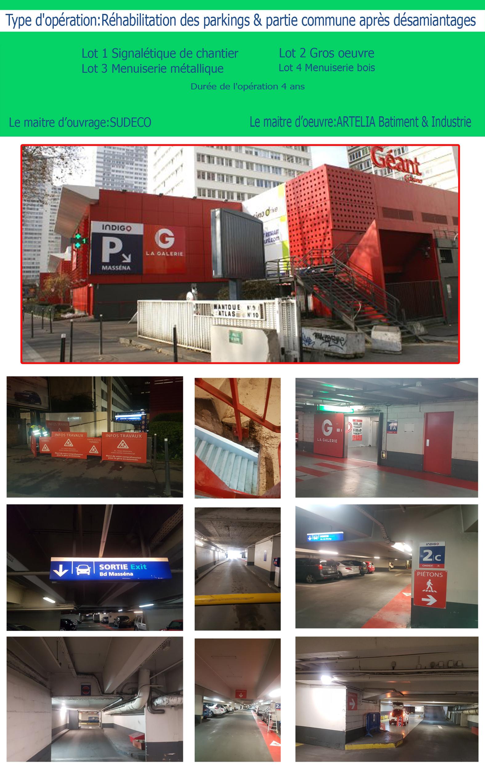 Réhabilitation des parkings & partie commune après désamiantages